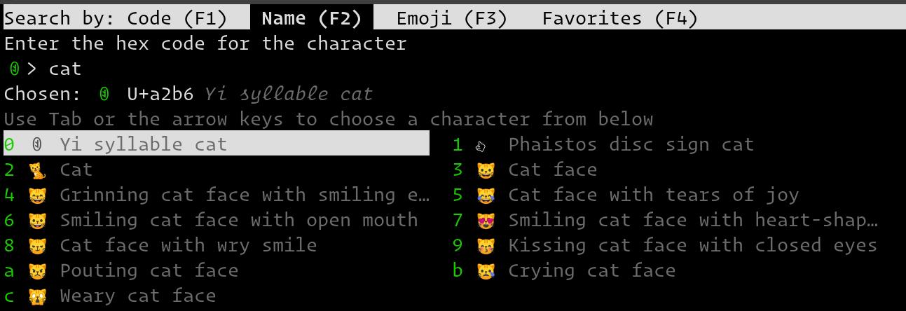 Unicode Input